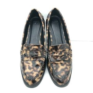 Patent Leopard Loafer, Size 9
